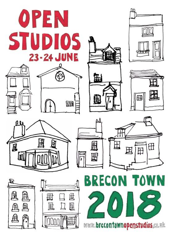 Brecon Town Open Studios publicity leaflet