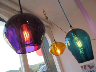 3 single colour Lightshades